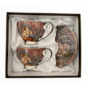 Hrnček na čaj 280ml s lyžičkou A.MUCHA