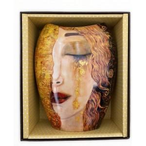 Váza 20cm Klimt TVÁR v ozdobnej krabici