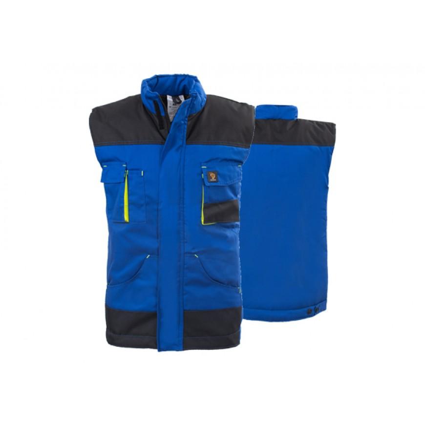 Pracovná bunda bezrukávová PROMAN BO Modrá