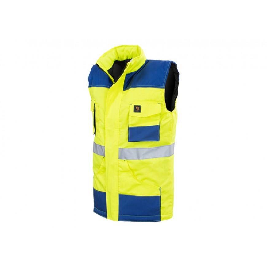 Pracovná bunda bezrukávová PROMAN BO Žltá