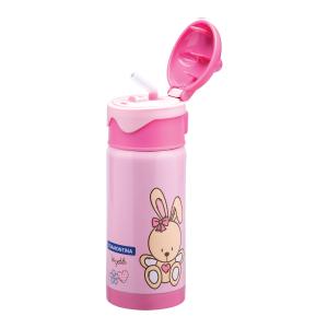 Vákuová detská fľaša ružová 350ml