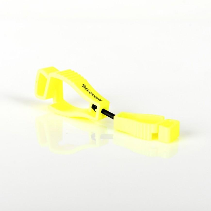 Spona na rukavice X-CLIP žltý