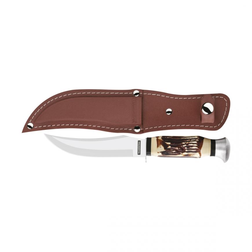 Lovecký nôž Outdoor 12,7cm v koženom obale hnedý