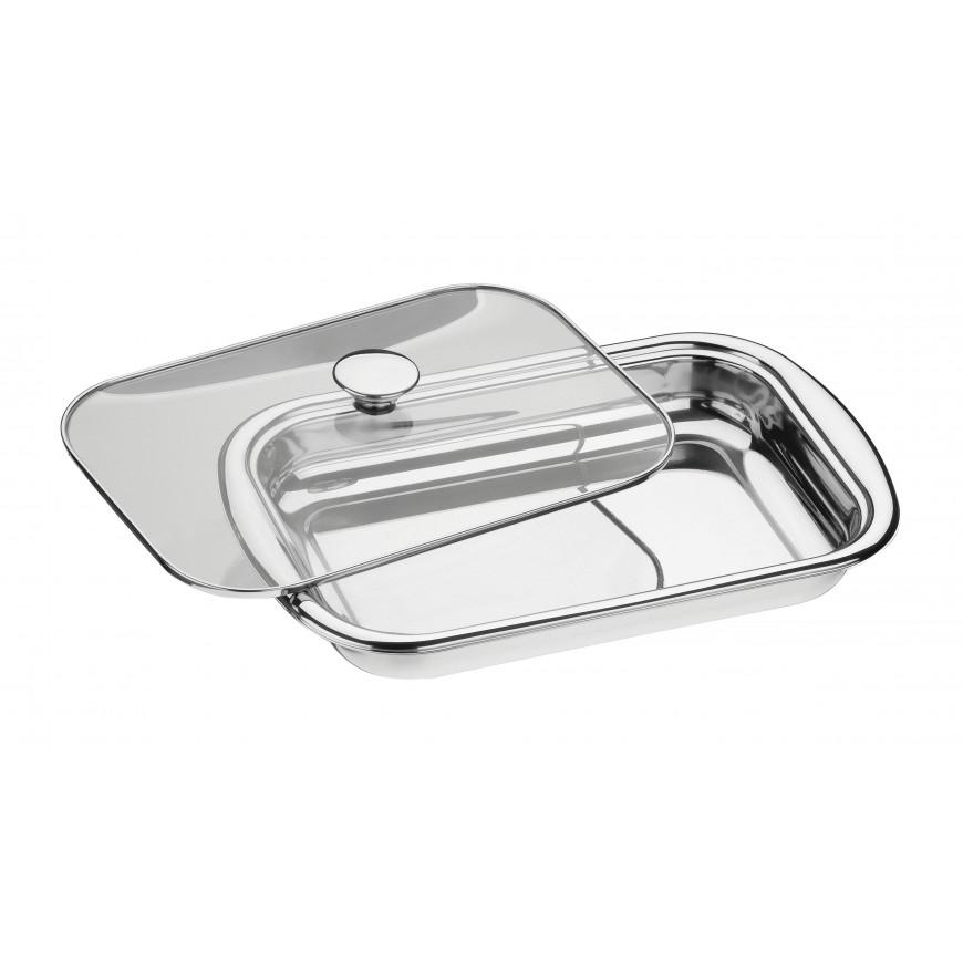 Nádoba na pečenie a dusenie 385x252mm so skleneným poklopom