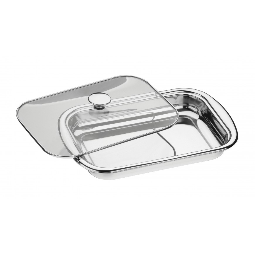 Nádoba na pečenie a dusenie 430x283mm so skleneným poklopom