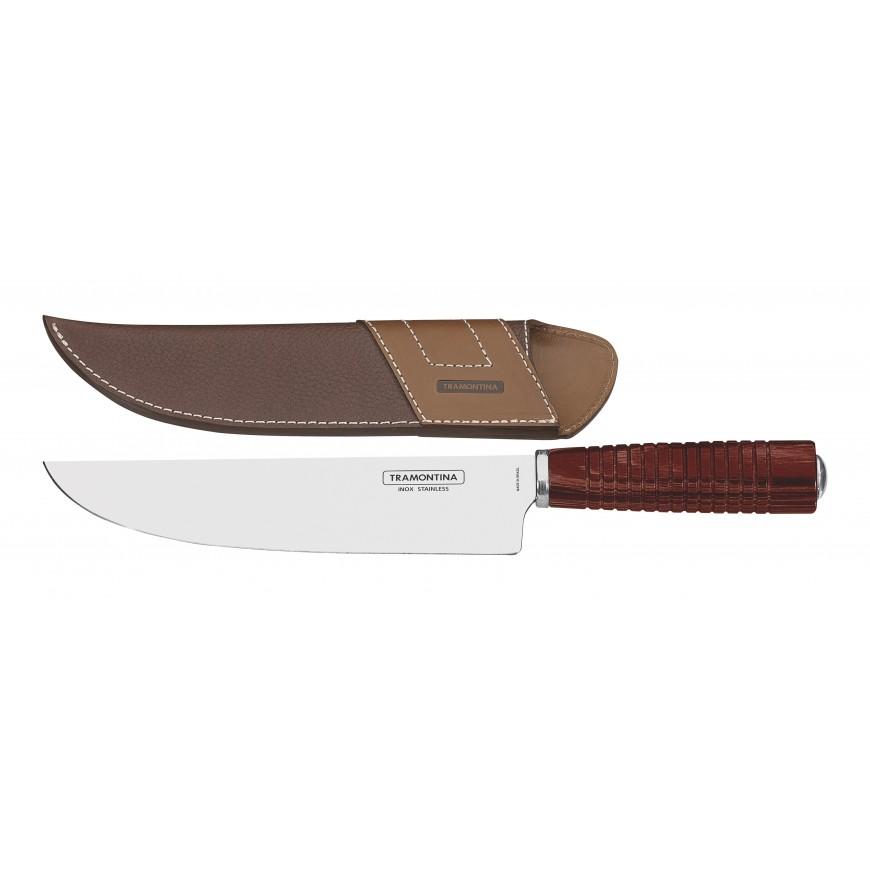 Nože na mäso 20cm kožený obal červené
