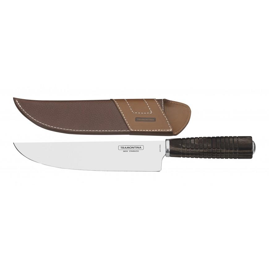 Nože na mäso 20cm kožený obal hnedé