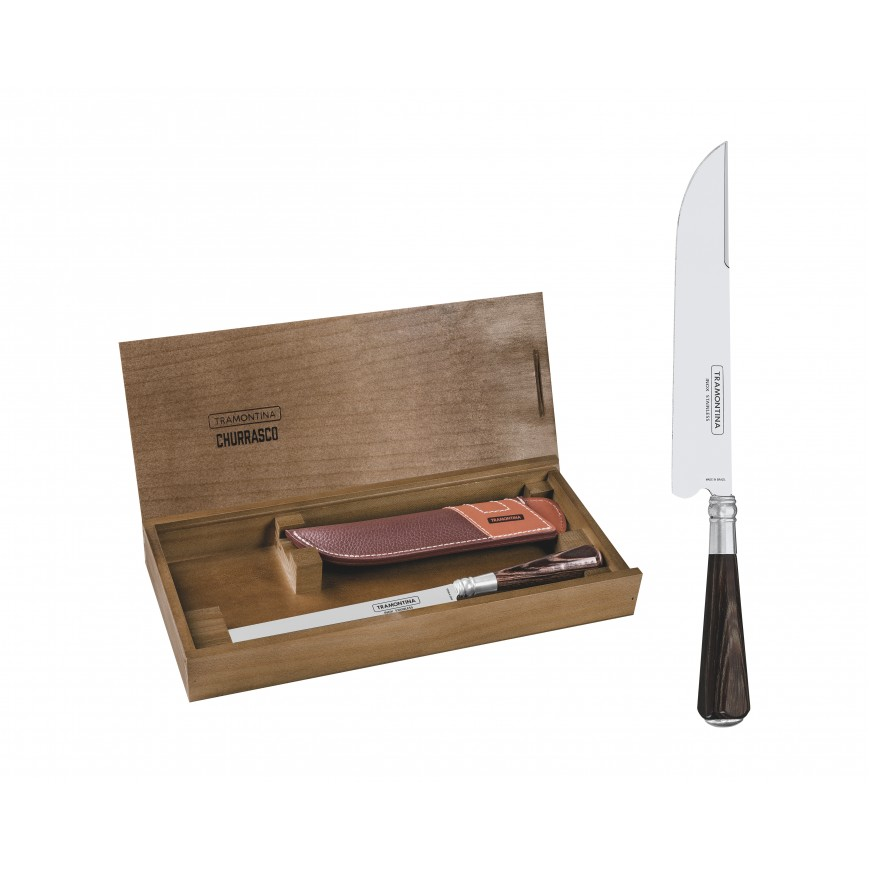 Nôž na mäso 30,1cm v koženom puzdre v drevenom balení