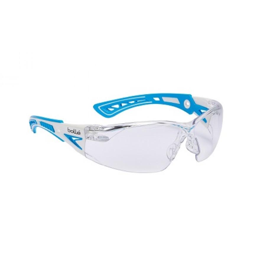 Ochranné okuliare RUSH PLUS SMALL bielo-modré