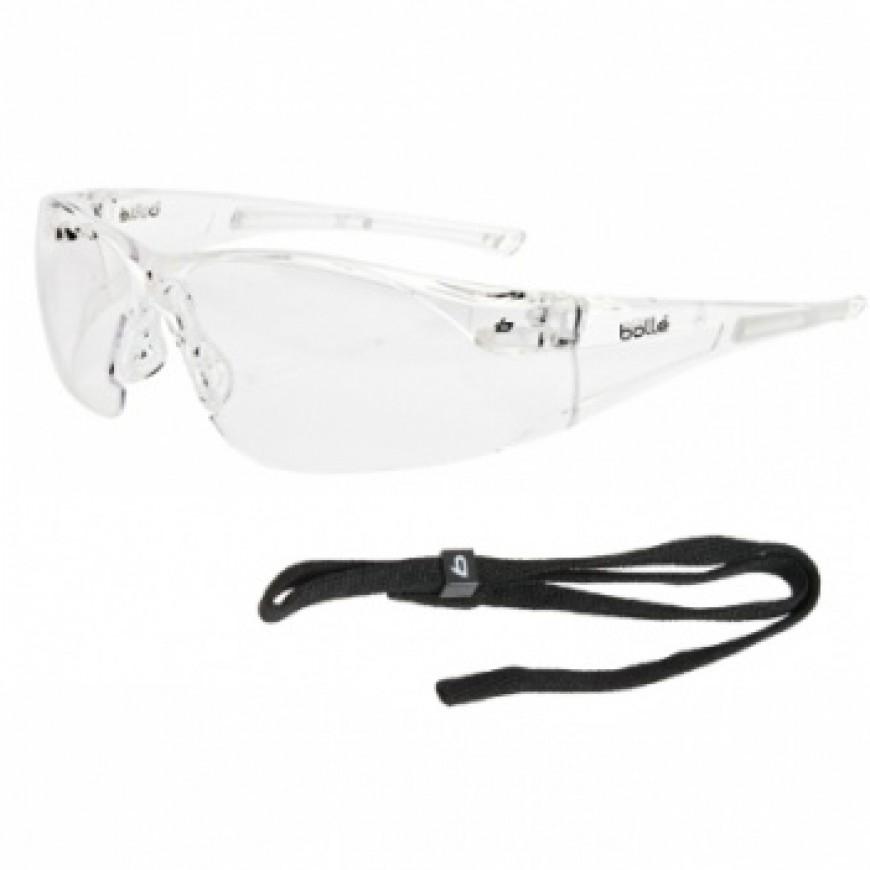 Ochranné okuliare RUSH priezračné