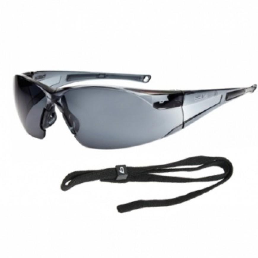 Ochranné okuliare RUSH tmavé
