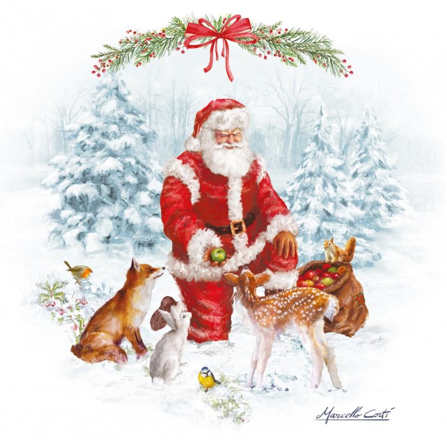 Servítky Christmas carol