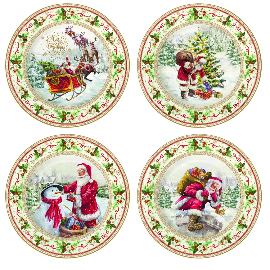 Set dezertných tanierov /4ks Christmas time
