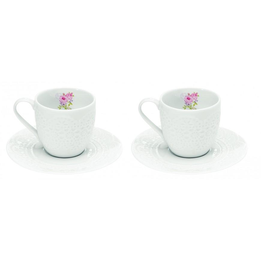 Šálky na kávu biele 100ml