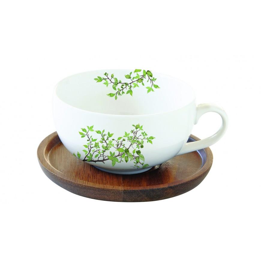 Šálka s podšálkou na čaj 250 ml