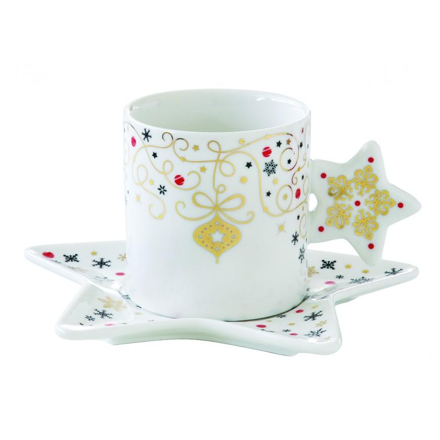 Šálka s podšálkou na kávu Hviezda