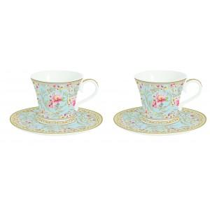Súprava šálok s podšálkou na čaj