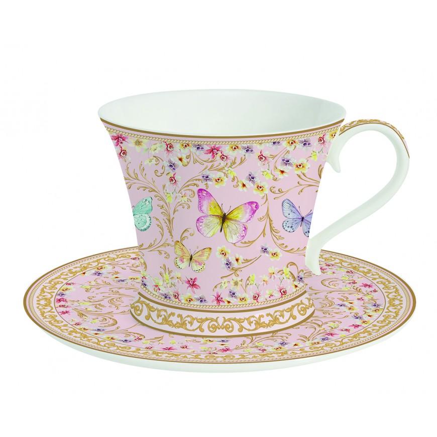 Šálka s podšálkou na čaj