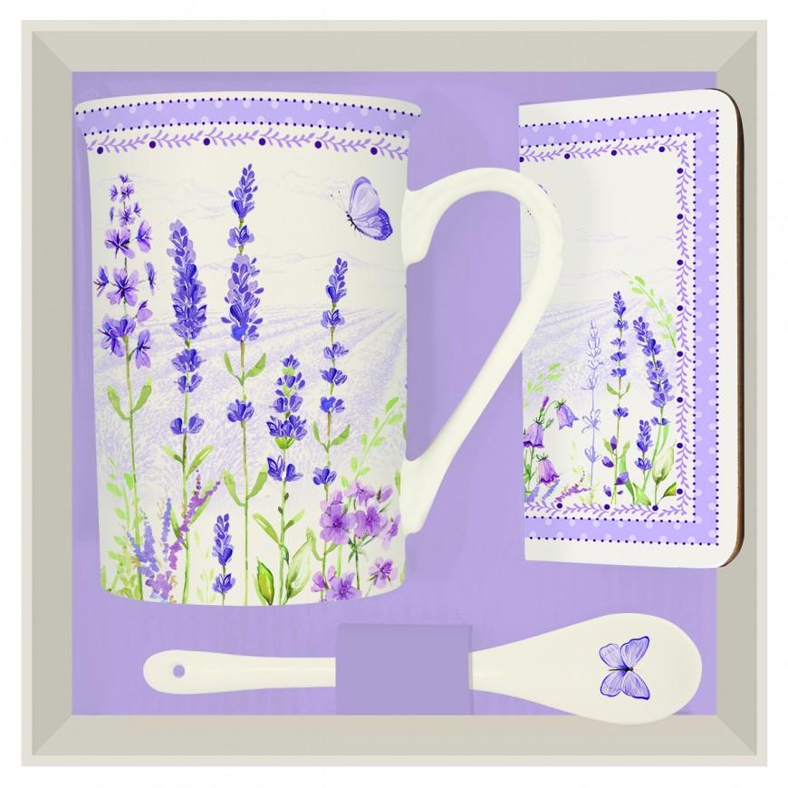 Čajová súprava s motívom levandula