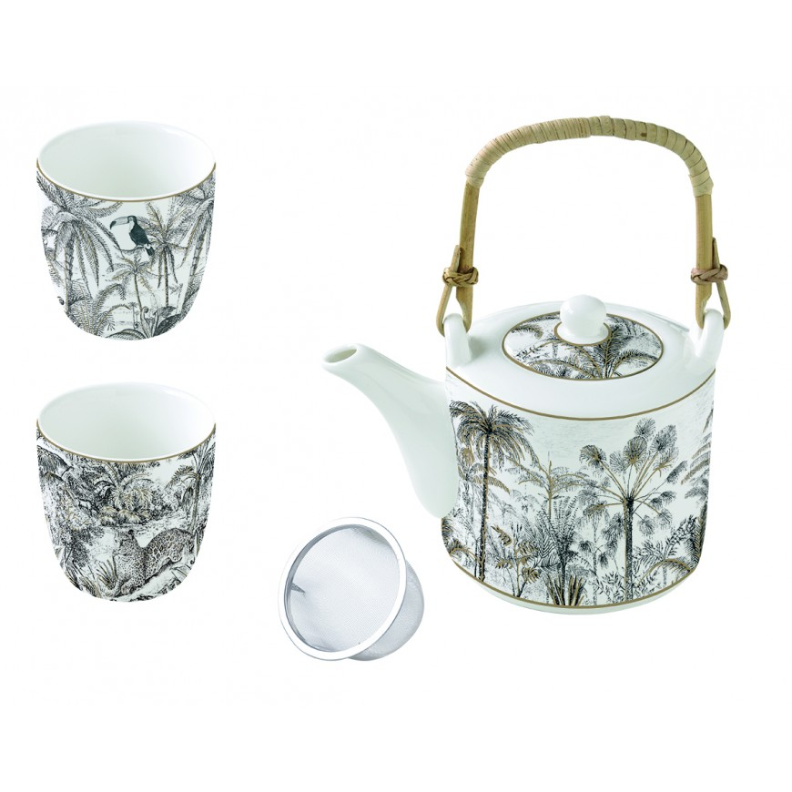 Čajník so šálkami Wild