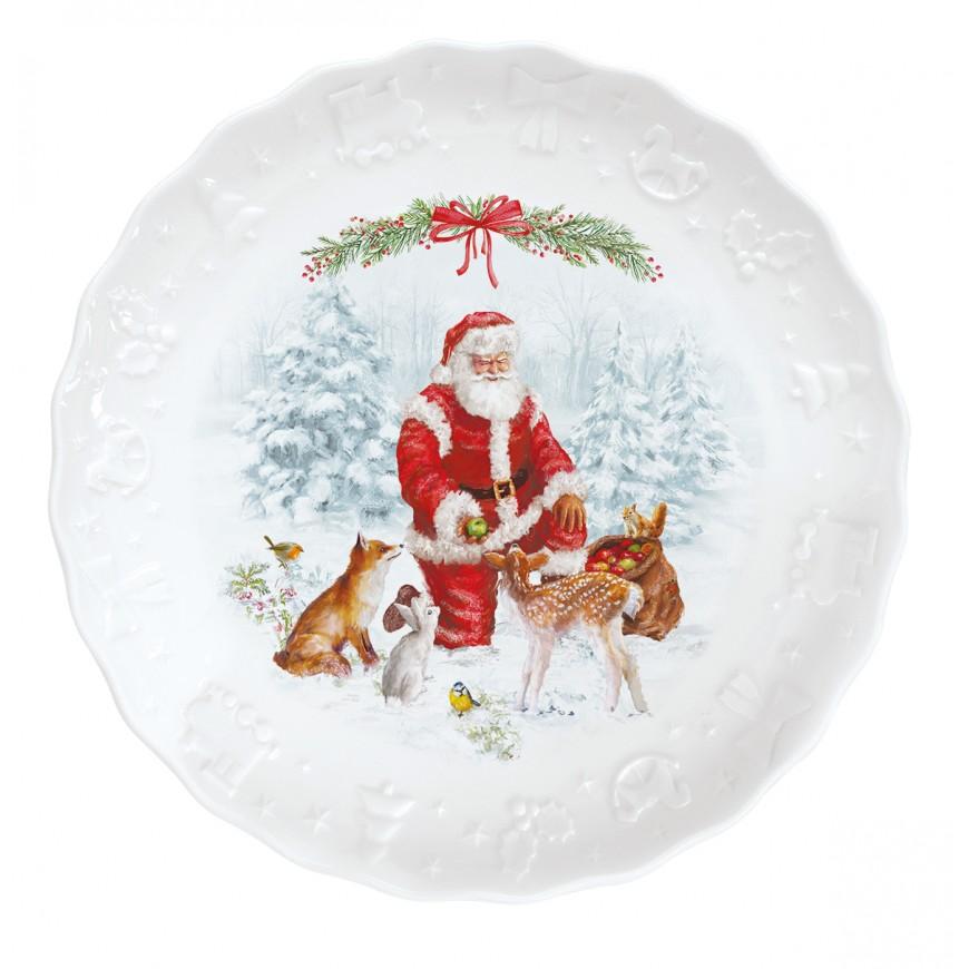 Dezertný tanier Christmas carol