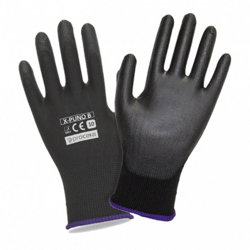 Pracovné rukavice X-PUNO BLACK