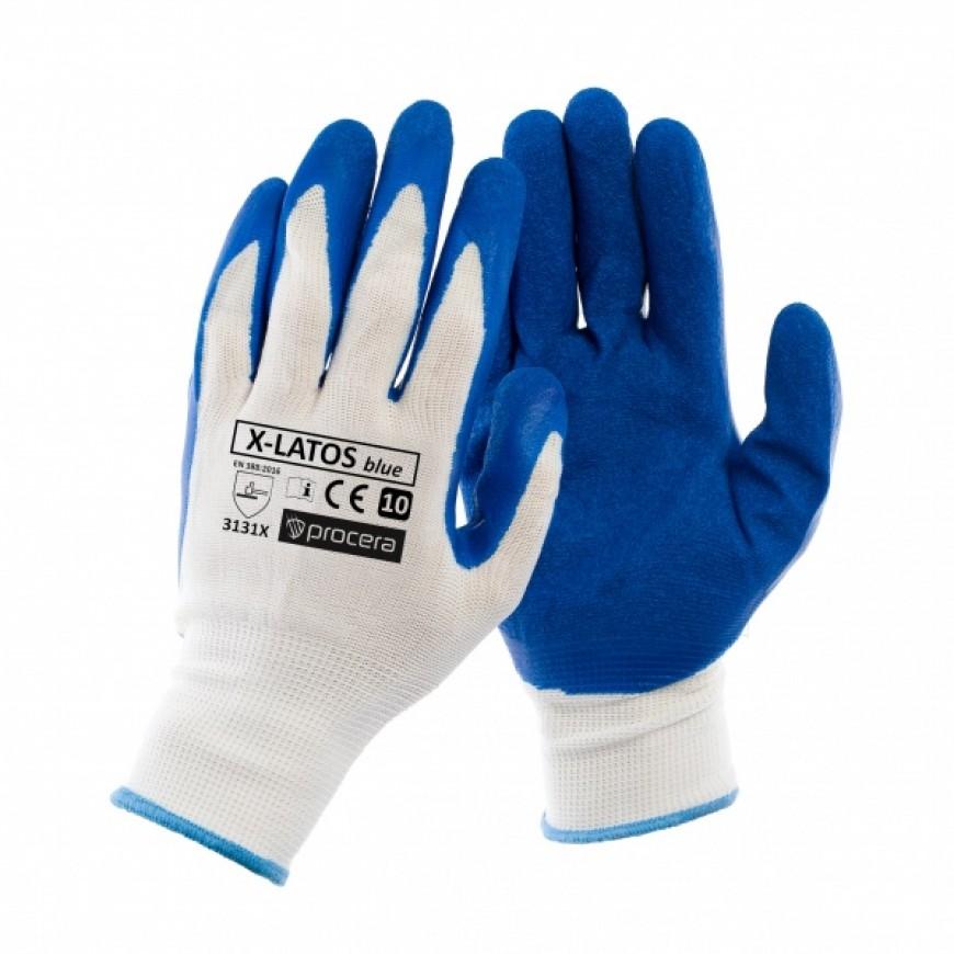 Pracovné rukavice X-LATOS BLUE