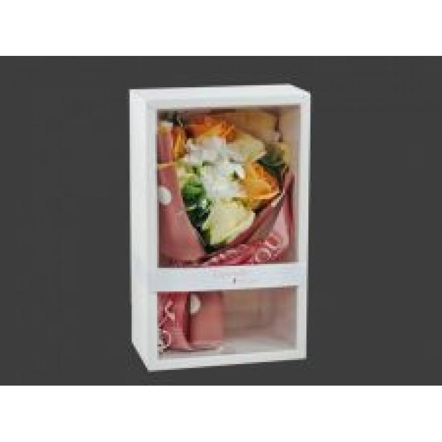 Kvety z mydla, kytica, oranžovo-biela 13x27cm