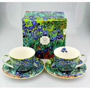 Šálky 250ml s tanierikmi Van Gogh