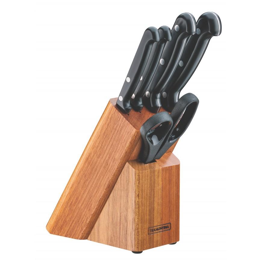 Súprava nožov Ultracorte 6ks v drevenom stojane čierny
