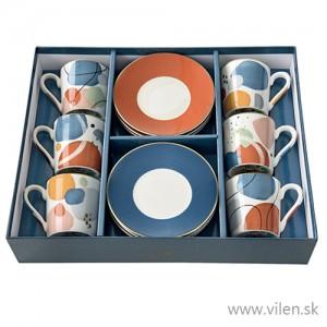 Súprava šálok na kávu 100ml - 6ks Abstract