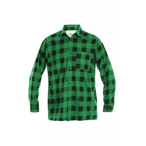 Košeľa flanelová zelená