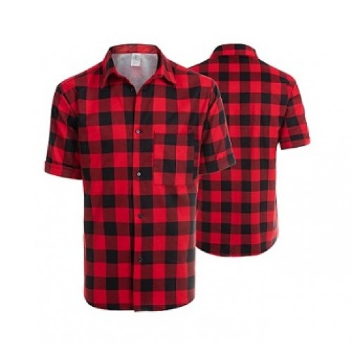 Košeľa flanelová červená krátky rukáv