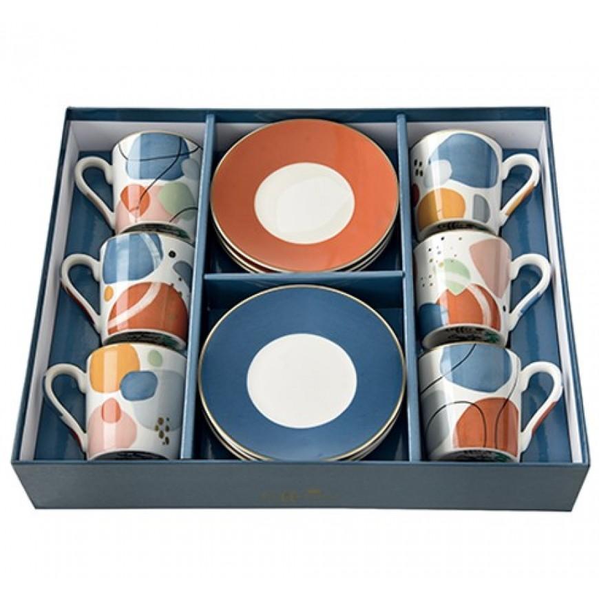 Kávová súprava Abstract 100ml - 6+6ks