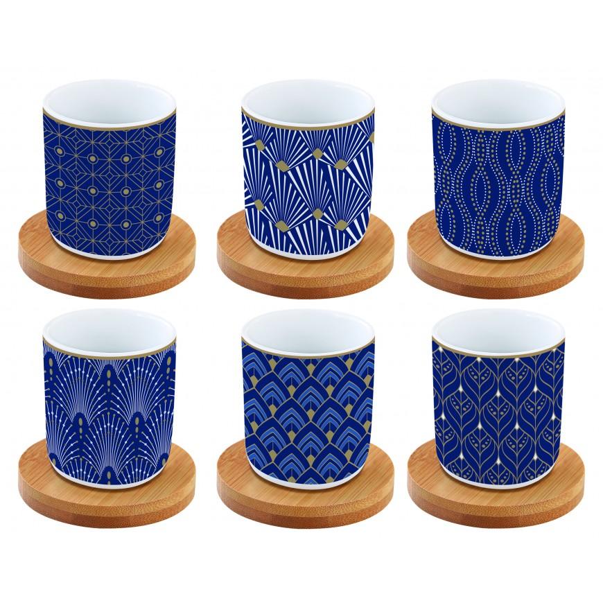 Kávová súprava modrá 110ml - 6+6ks