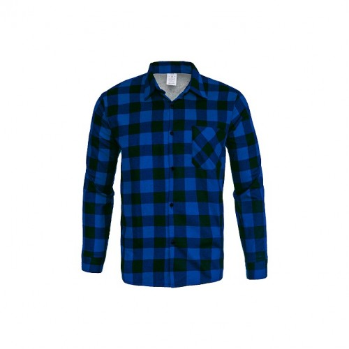 Košeľa flanelová modrá