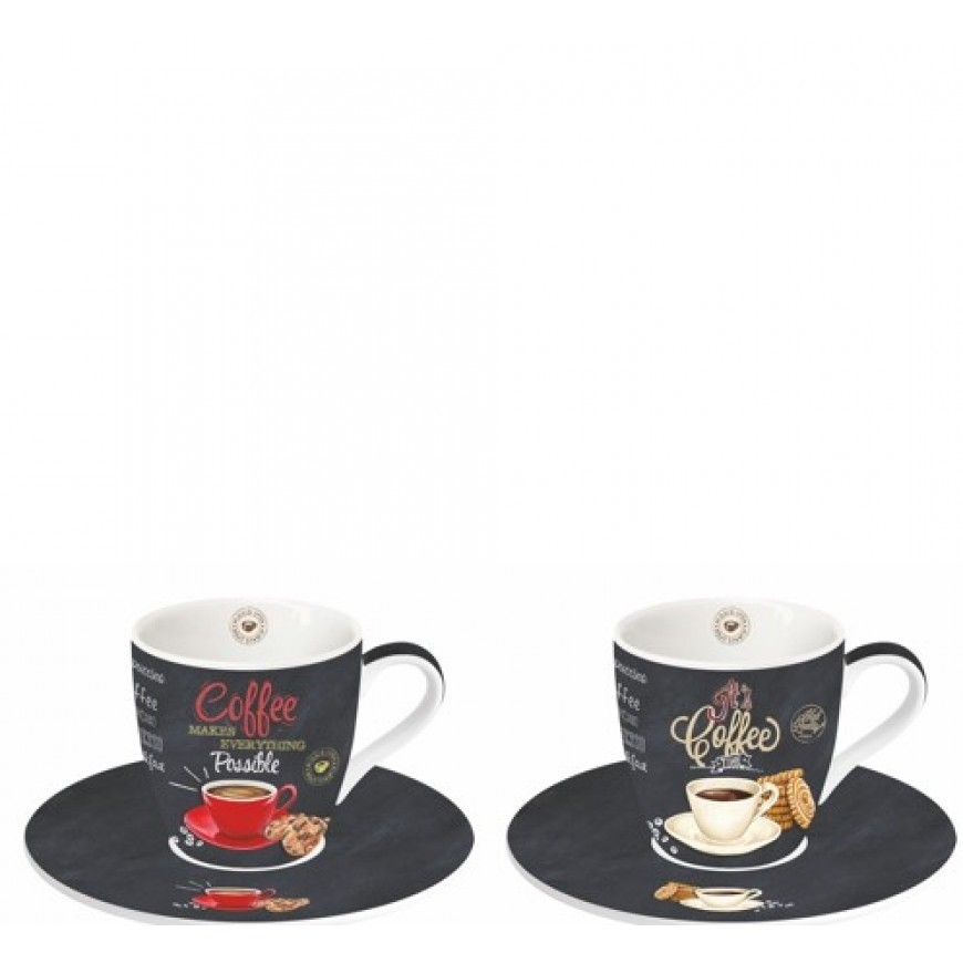Kávová súprava Coffe time - 2+2ks
