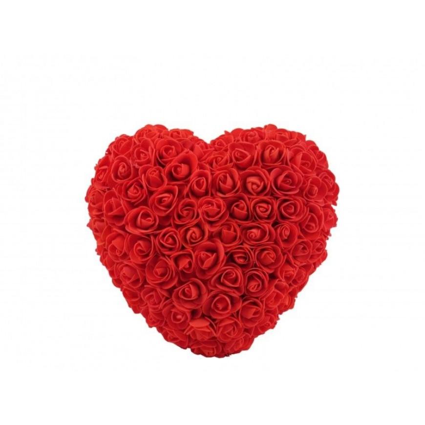 Srdce z umelých ruží 24x8x22cm