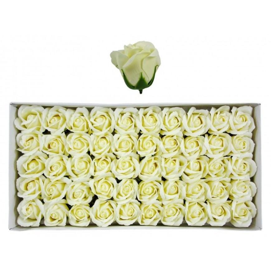 Ruže z mydla, kytica, žlté, 6cm 50ks